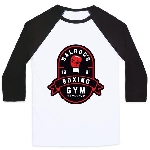 Balrog's Boxing Gym Baseball Tee