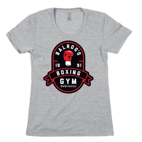 Balrog's Boxing Gym Womens T-Shirt
