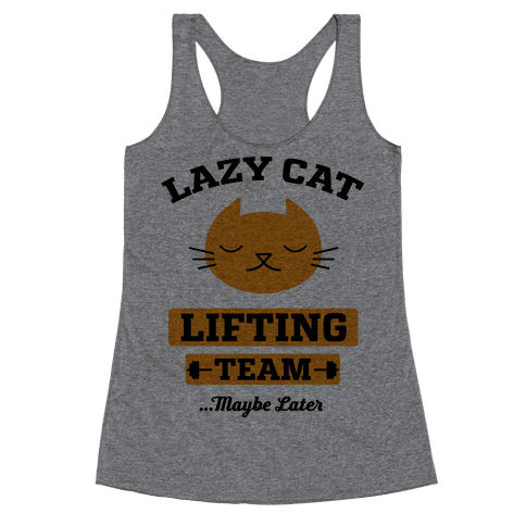 Lazy Cat Lifting Team Racerback Tank Top