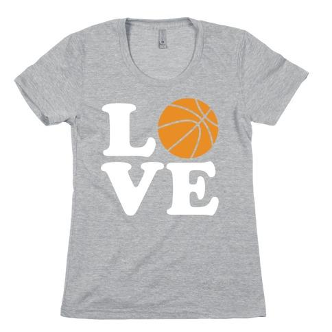 Love Basketball Womens T-Shirt