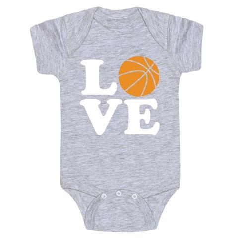 Love Basketball Baby Onesy