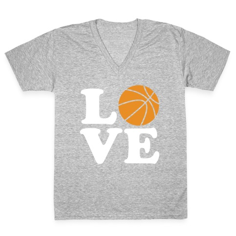 Love Basketball V-Neck Tee Shirt