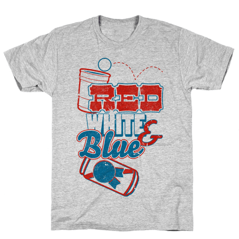 Red, White, and Blue Mens T-Shirt