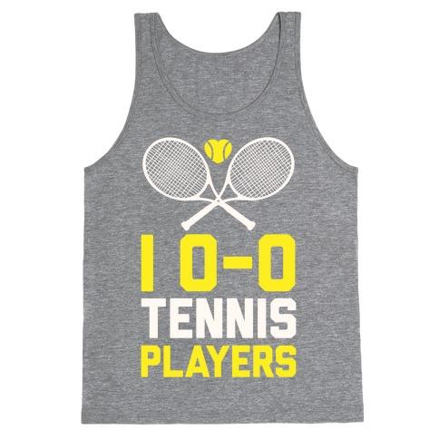 I Love Tennis Players Tank Top
