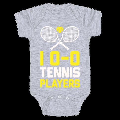I Love Tennis Players Baby Onesy