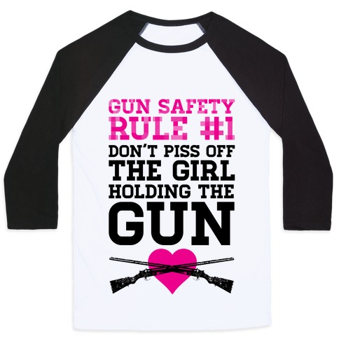 Rule One of Gun Safety Baseball Tee