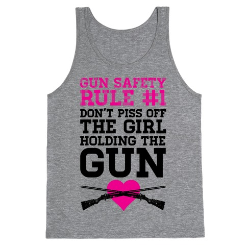 Rule One of Gun Safety Tank Top