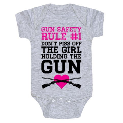 Rule One of Gun Safety Baby Onesy