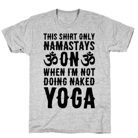 Naked Yoga Mens/Unisex T-Shirt