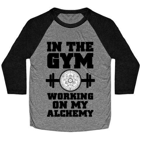 In the Gym Working on my Alchemy Baseball Tee