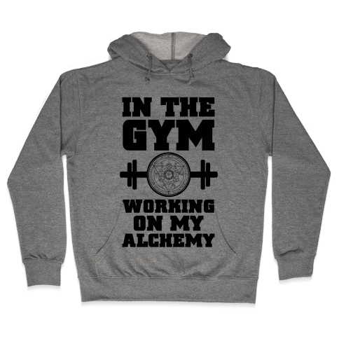 In the Gym Working on my Alchemy Hooded Sweatshirt