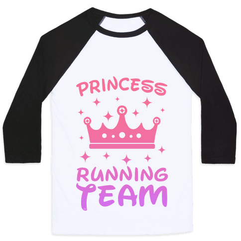 Princess Running Team Baseball Tee