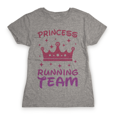 Princess Running Team Womens T-Shirt