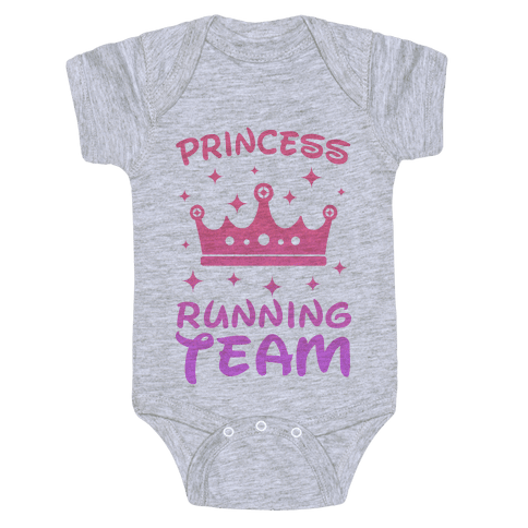 Princess Running Team Baby Onesy