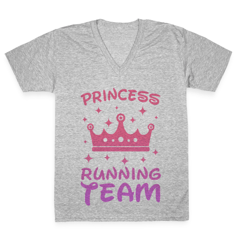 Princess Running Team V-Neck Tee Shirt
