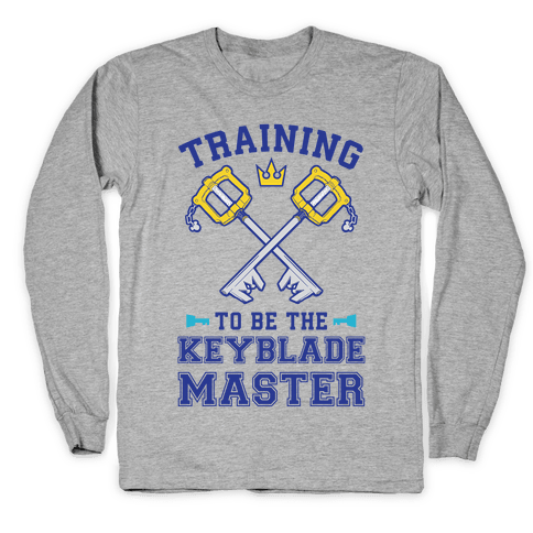 Training To Be The Keyblade Master Long Sleeve T-Shirt