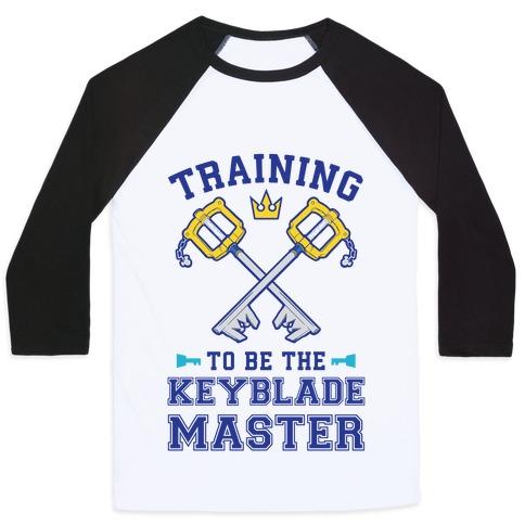 Training To Be The Keyblade Master Baseball Tee