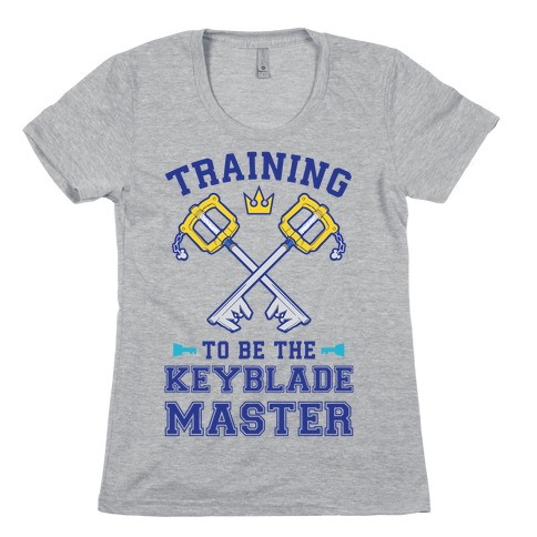 Training To Be The Keyblade Master Womens T-Shirt