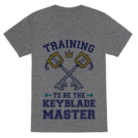 Training To Be The Keyblade Master V-Neck Tee Shirt