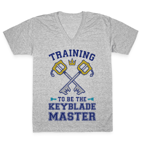 Training To Be The Keyblade Master V-Neck Tee Shirt
