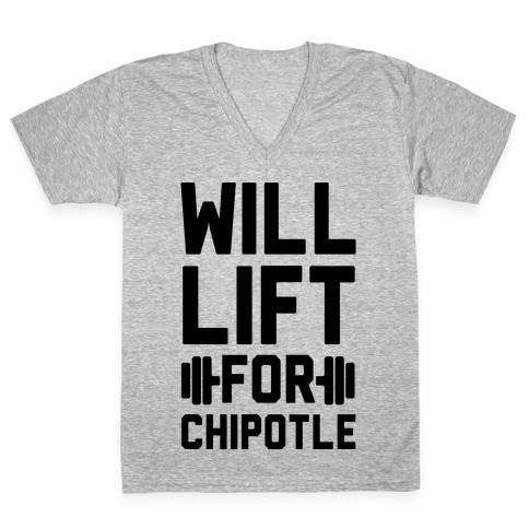 Will Lift For Chipotle V-Neck Tee Shirt