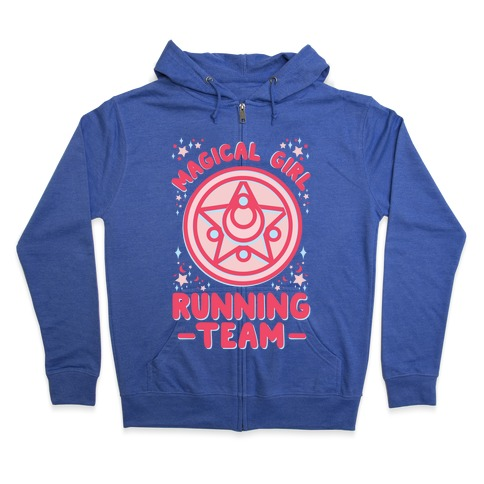 Magical Girl Running Team Zip Hoodie