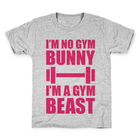 I'm No Gym Bunny Kids T-Shirt