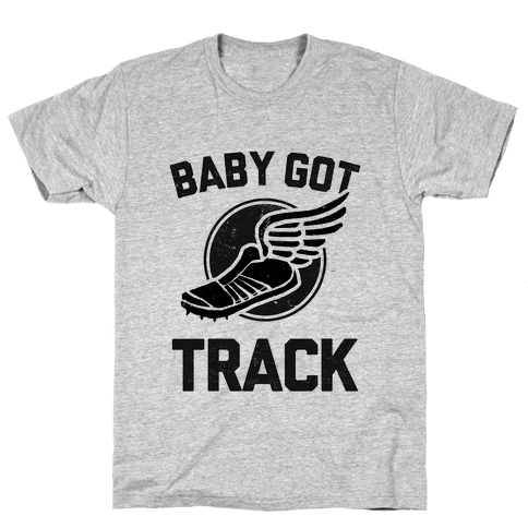 Baby Got Track (Dark tank) Mens T-Shirt