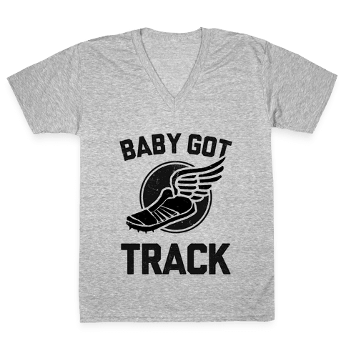 Baby Got Track (Dark tank) V-Neck Tee Shirt