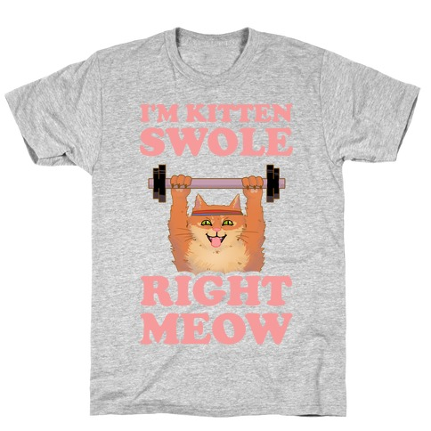 I'm Kitten Swole Right Meow Mens/Unisex T-Shirt