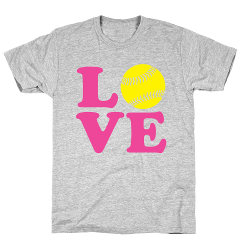 Love Softball Mens T-Shirt