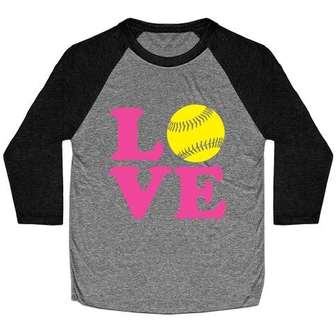 Love Softball Baseball Tee