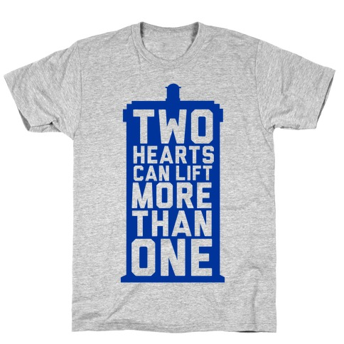 Two Hearts Can Lift More Than One Mens T-Shirt