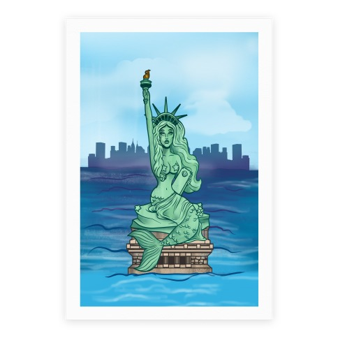 Statue of Liberty Mermaid Poster