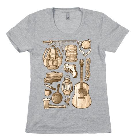 Camping Gear Womens T-Shirt