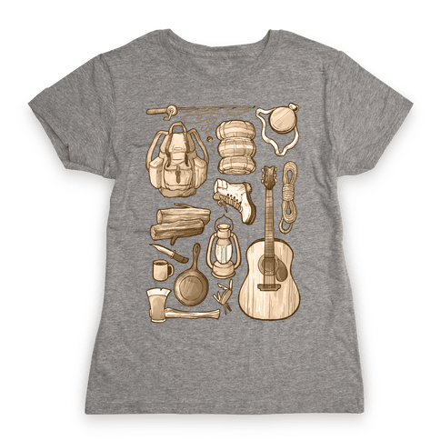 Camping Gear Womens T-Shirt