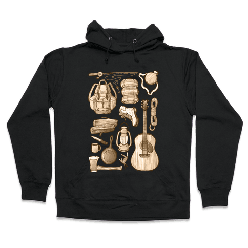 Camping Gear Hooded Sweatshirt
