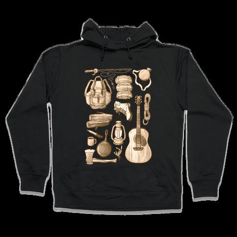 Camping Gear Hooded Sweatshirt