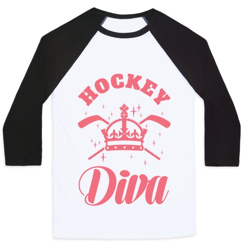 Hockey Diva Baseball Tee
