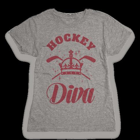 Hockey Diva Womens T-Shirt