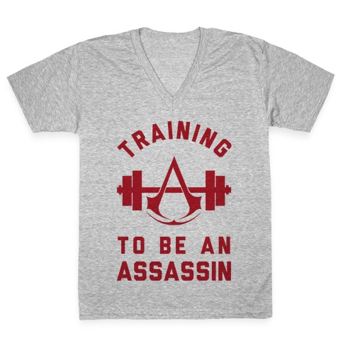 Training To Be An Assassin V-Neck Tee Shirt