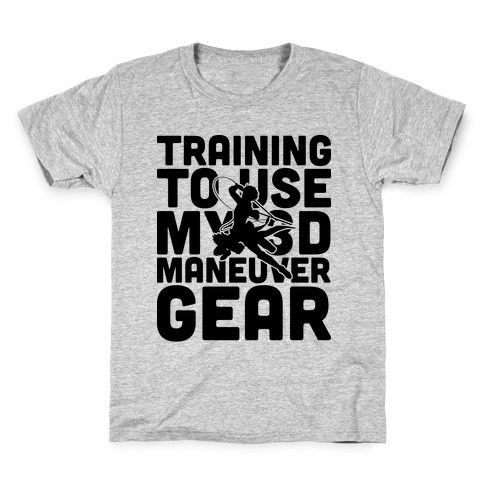Training To use My 3D Maneuver Gear Kids T-Shirt
