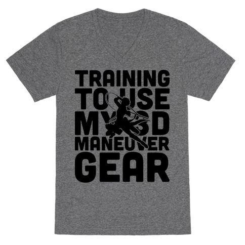 Training To use My 3D Maneuver Gear V-Neck Tee Shirt