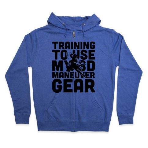 Training To use My 3D Maneuver Gear Zip Hoodie