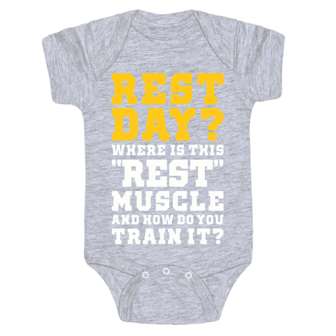 Where Is This Rest Muscle Baby Onesy