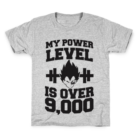 My Power Level is Over 9,000 Kids T-Shirt