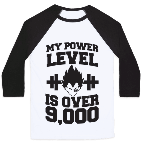 My Power Level is Over 9,000 Baseball Tee