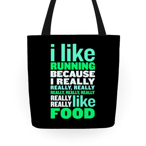 I Like Running (Food) Tote