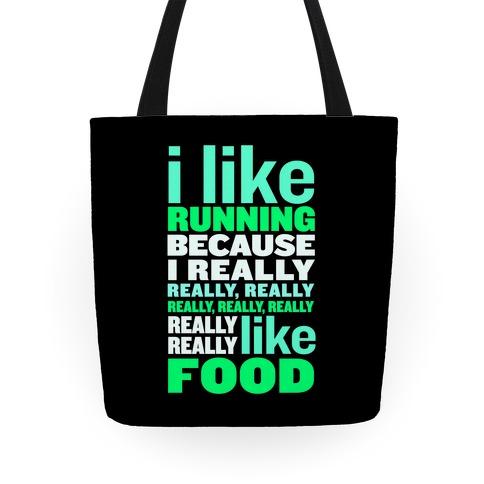 I Like Running (Food) Tote