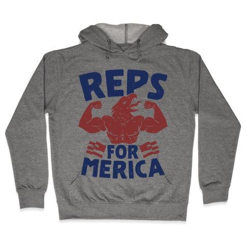Reps For 'Merica Hooded Sweatshirt